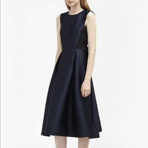 french connection satin bow midi dress